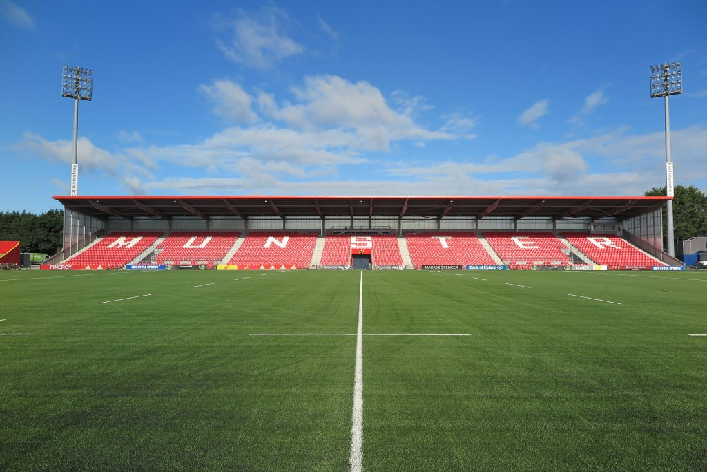 The new West Stand was completed in 2015 with a new surface installed in 2018.