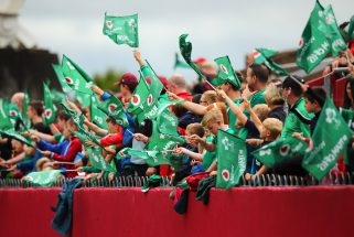 Supporters at the Ireland open training session at Thomond Park