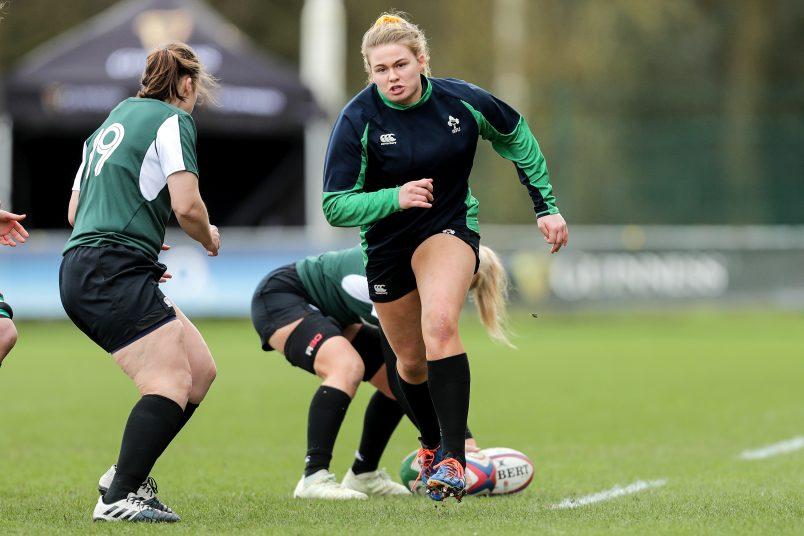 Dorothy Wall training with Ireland.