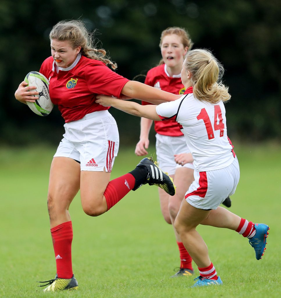 Wall in action for the Munster U18s.