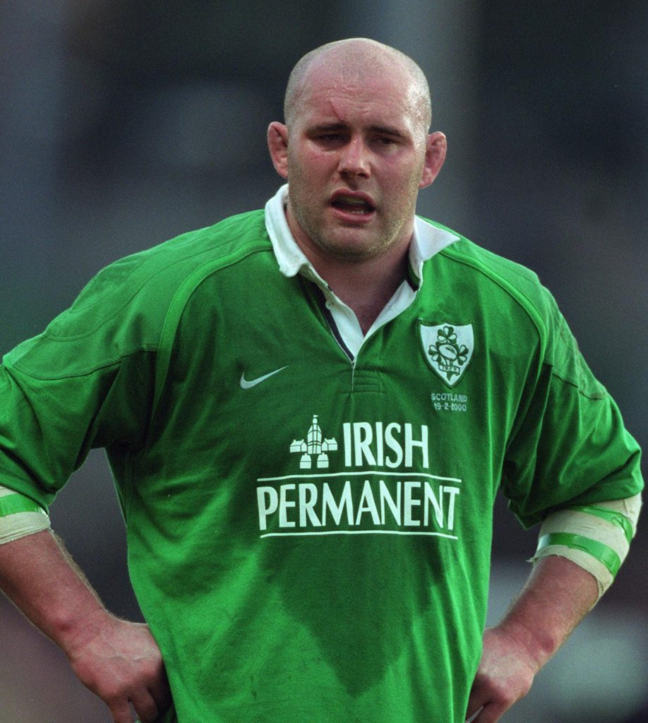 John Hayes makes his Ireland debut against Scotland in 2000.