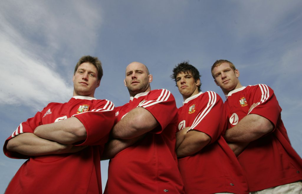 Munster's four Lions in 2005 - Ronan O'Gara, John Hayes, Donncha O'Callaghan and Paul O'Connell.