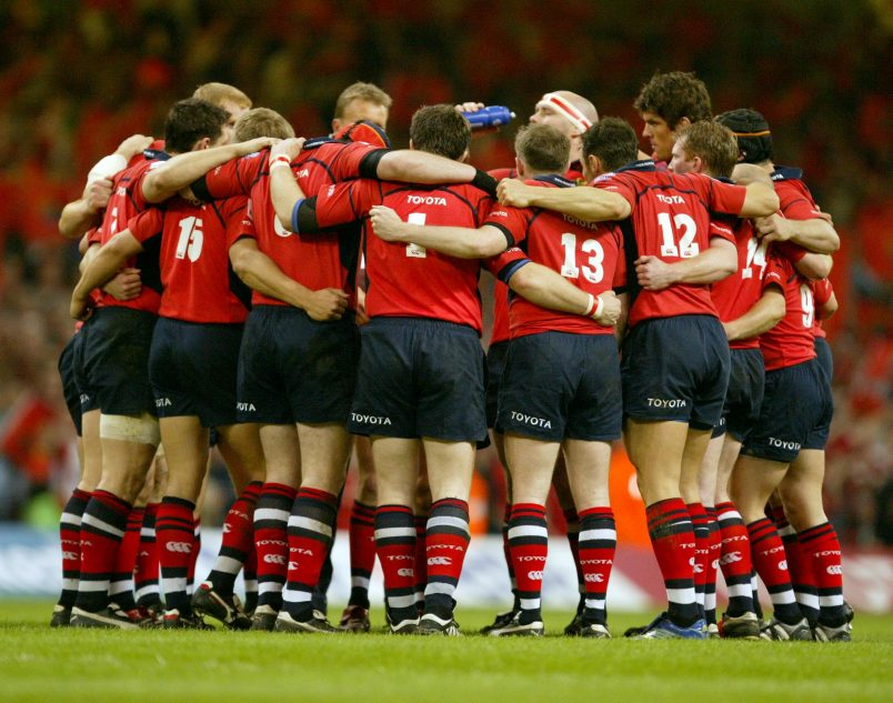 The Munster side before the 2006 European Cup final.