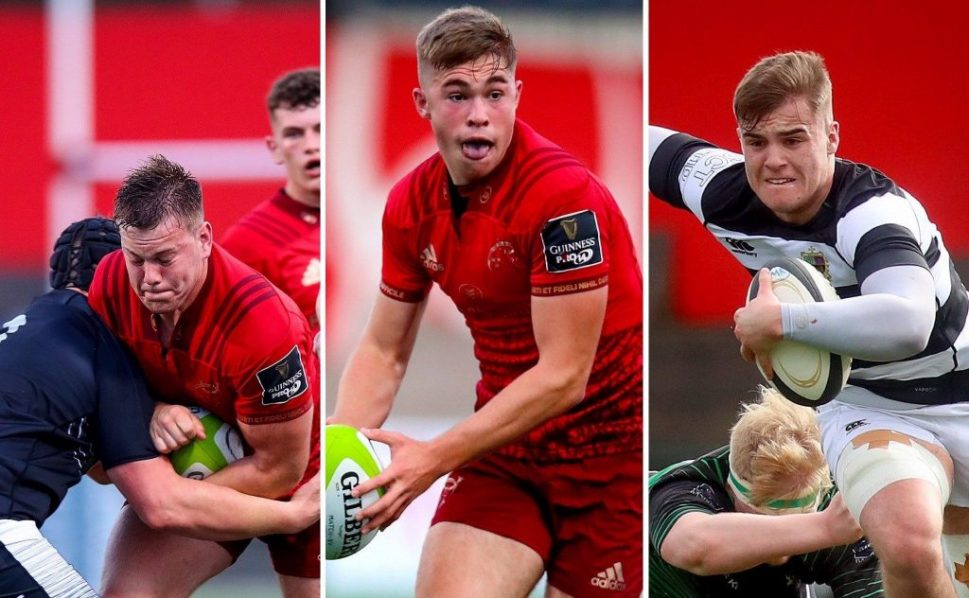 Scott Buckley, Jack Crowley and Alex Kendellen have joined the Greencore Munster Rugby Academy.