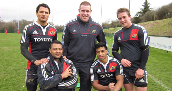Munster Players Support Christchurch Earthquake Appeal