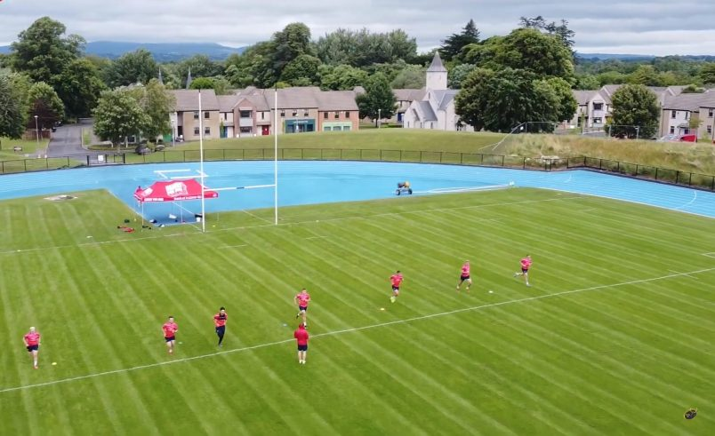 The Munster squad are training in groups of seven players.