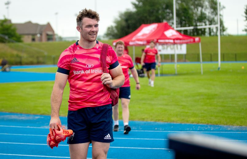 Peter O'Mahony at training last week.