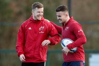 Alex McHenry and Shane Daly at Munster training.