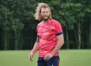 RG Snyman at Munster Rugby training