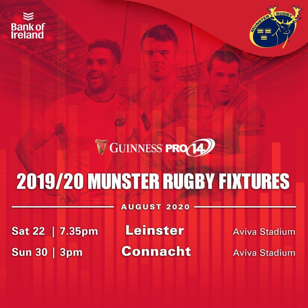 Munster Restart Fixtures