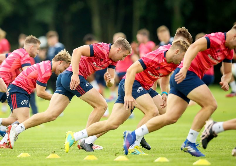 The Munster squad put through their paces.