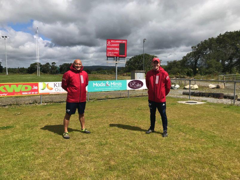 Willie Shubart and Ken Imbusch at Killarney RFC.
