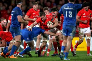 Tommy O'Donnell in action against Leinster last December.