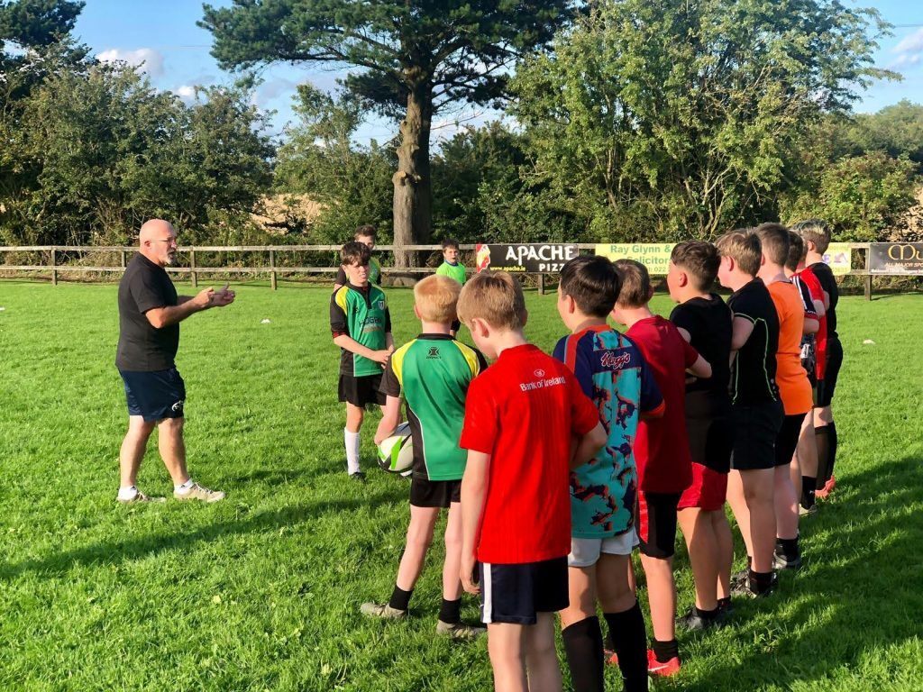 Ray Gadsden works with the U13 Boys at Mallow.