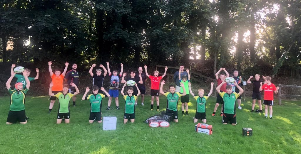 The young players at Mallow RFC.