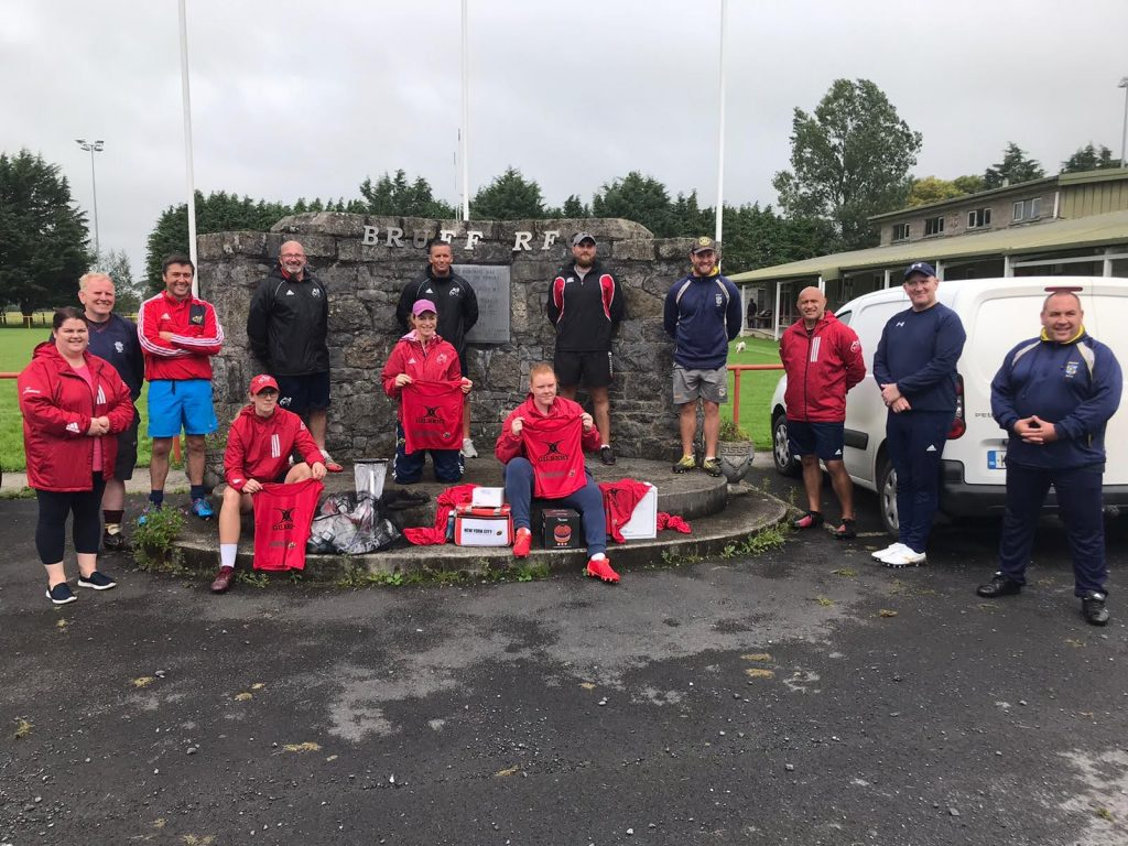 Bruff Coaches and Munster Rugby Womens players and staff that helped host sessions at Bruff RFC.