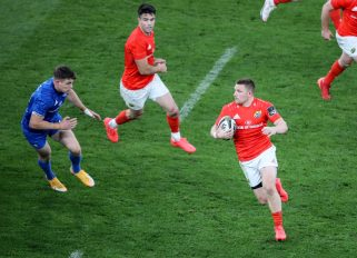 Andrew Conway in action against Leinster.