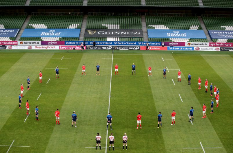 Munster and Leinster stand for a minute