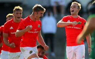 Jack Crowley and Nick McCarthy celebrate.