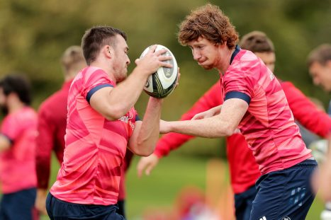 Matt Gallagher will make his Munster debut this weekend, while Ben Healy starts at 10.