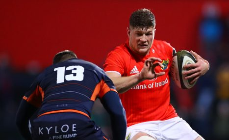 Jack O'Donoghue in action against Edinburgh