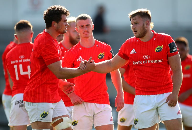 Scott Buckley (right) with fellow Academy man Jack Daly after the Munster A win over Connacht A last month.