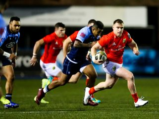 Rory Scannell in action against Cardiff Blues last season. The sides meet in Limerick on Monday night.