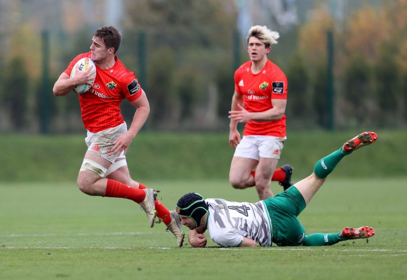 Alex Kendellen on the charge for the Munster 7s.