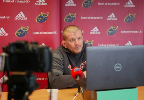 Graham Rowntree speaking to the media remotely from the HPC.
