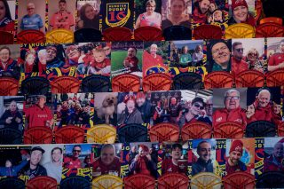 Fan portraits at Thomond Park.