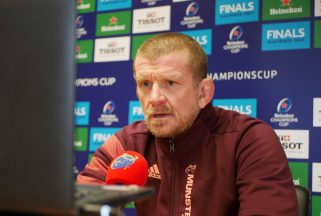 Graham Rowntree speaking to the media on Wednesday.
