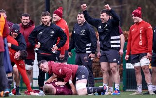 The Munster squad returned to training on Tuesday.
