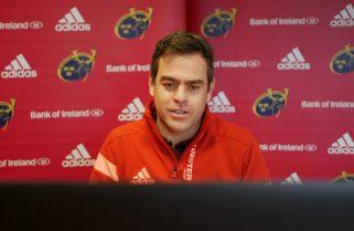 Munster Head Coach Johann van Graan speaking to the media remotely this week.