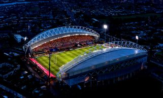 A view of Thomond Park ahead of the game.