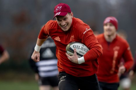 Munster full-back Mike Haley at training this week.