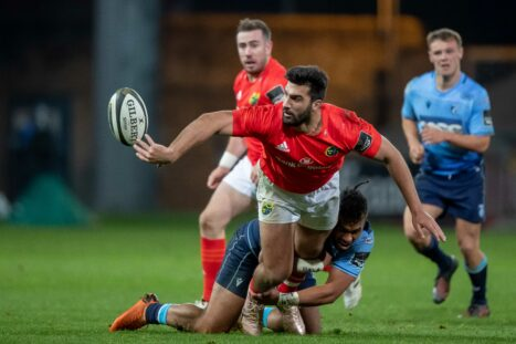 Damian de Allende in action against Cardiff Blues earlier this season.