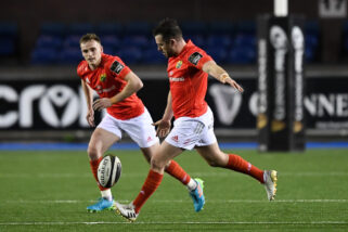 JJ Hanrahan in action against Cardiff Blues.
