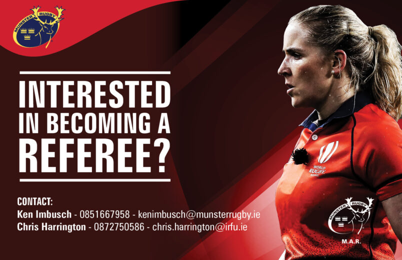 Munster Rugby Female Referee Support Structure