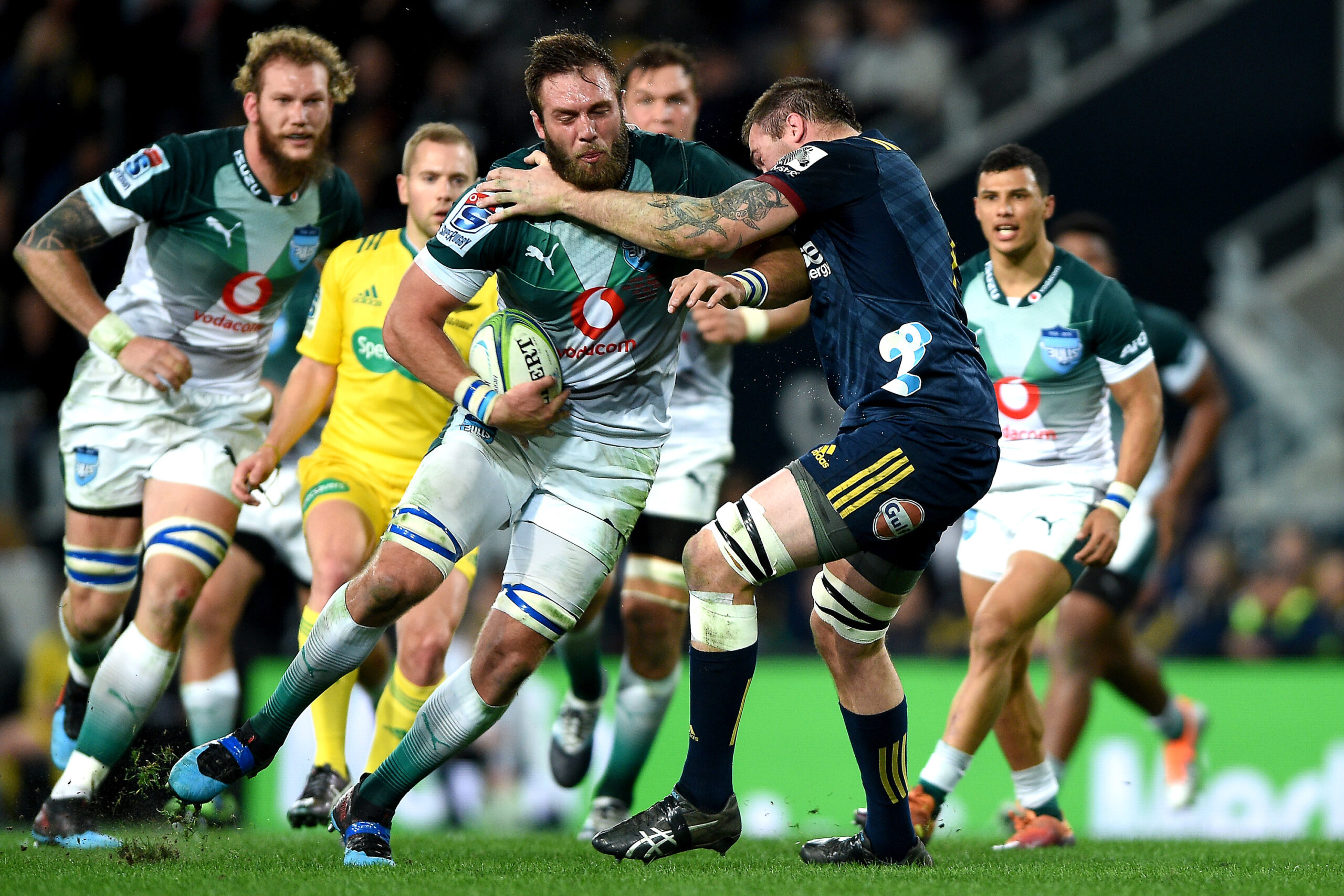 Jason Jenkins in Super Rugby action for the Bulls.