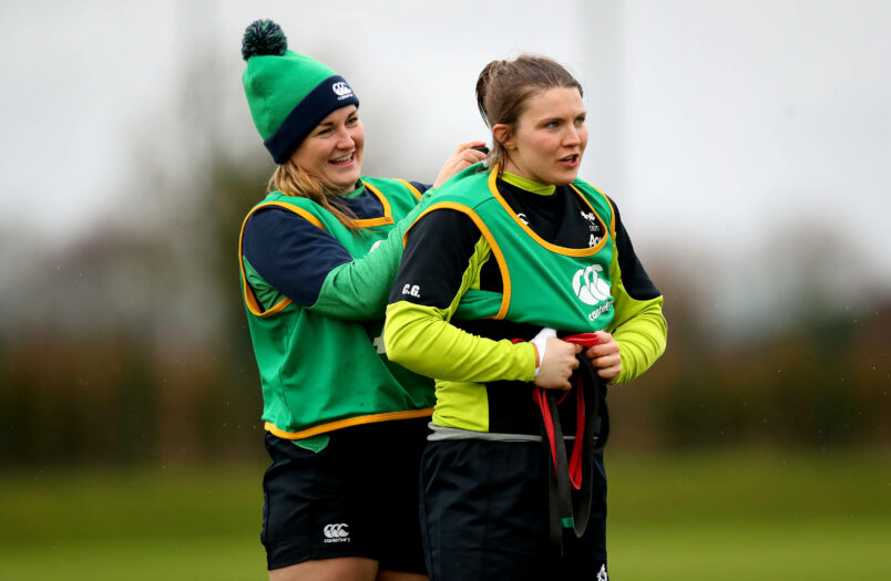 Ireland internationals Anna Caplice and Ciara Griffin.