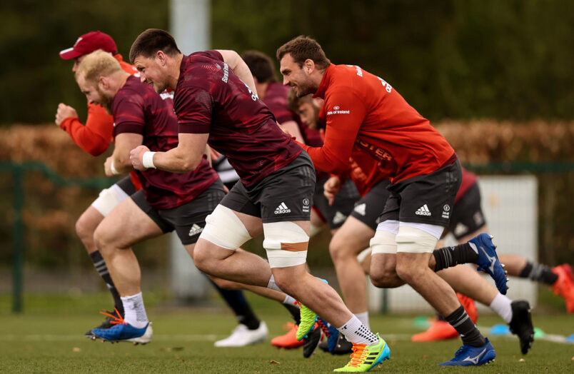 Fineen Wycherley and Tadhg Beirne at training this week.