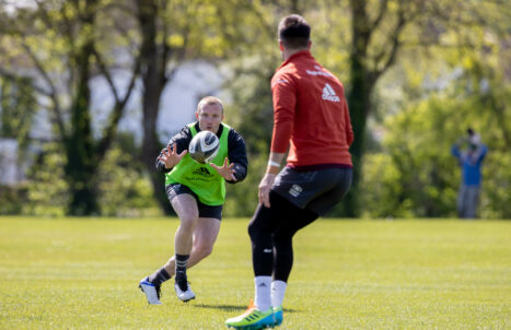 Keith Earls at training on Tuesday.
