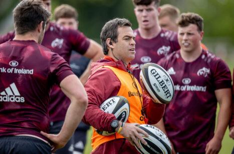 Munster Head Coach Johann van Graan at training on Tuesday.