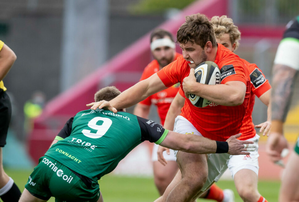 Rhys Marshall in action against Connacht.