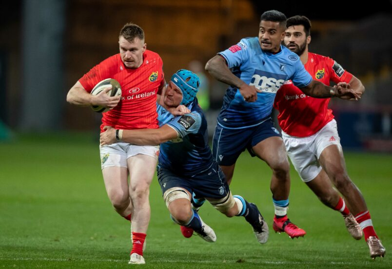 Rory Scannell in action against Cardiff Blues earlier this season.