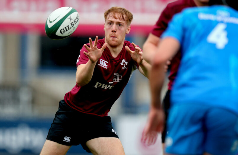 Former CBC man Cian Whooley in action for the Ireland U20s against Leinster A last week.