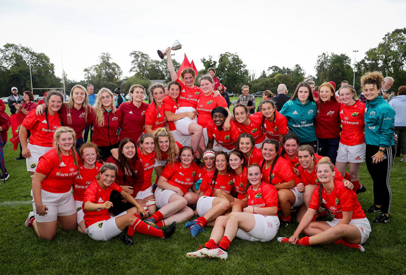 Munster U18 Women celebrate winning the interprovincial championship in 2019 ©INPHO