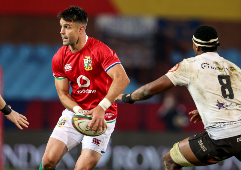 Tour captain Conor Murray leads the Lions on Wednesday night.