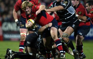 Andi Kyriacou in action for Munster against Ospreys in 2006.
