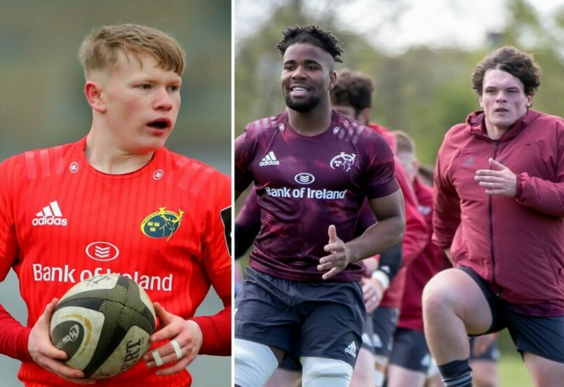 Ethan Coughlan, Daniel Okeke and Mark Donnelly have joined the Greencore Munster Rugby Academy.
